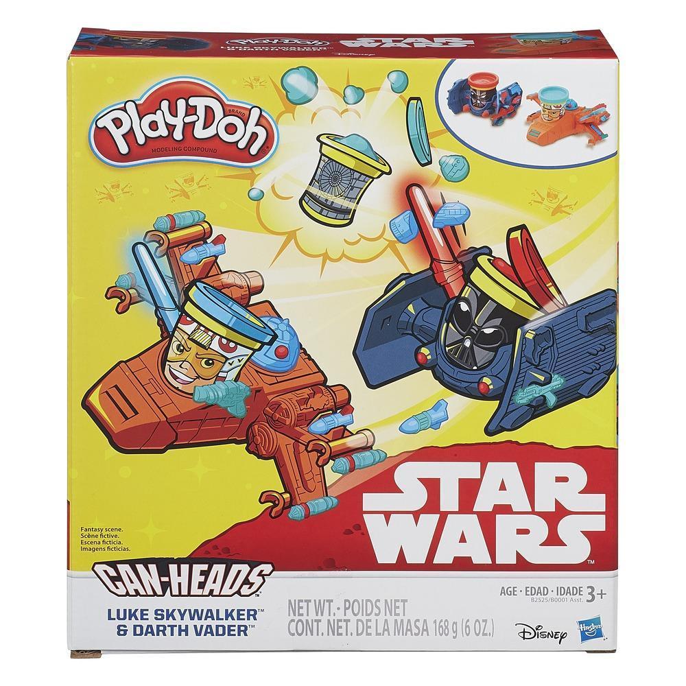 Can Heads Play-Doh Star Wars de Luke Skywalker vs. Darth Vader