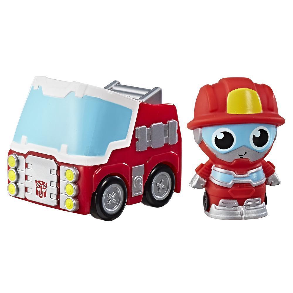 Playskool Friends Transformers - Figura Heatwave el robot bombero Vehículo con sorpresa