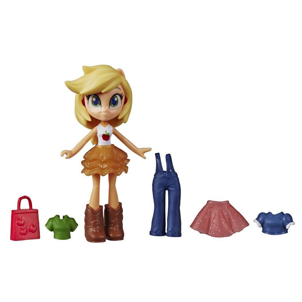 My Little Pony Equestria Girls - Applejack Brigada de moda - Minimuñeca de 7,5 cm con ropa y accesorios sorpresa