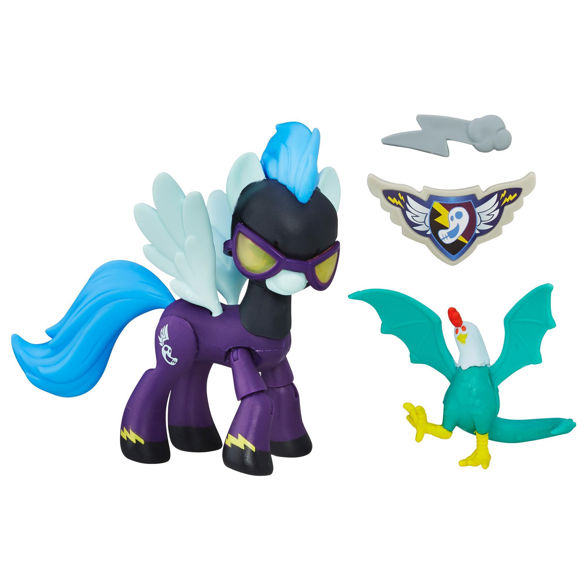 My Little Pony Guardians of Harmony - Figuras de Pony Shadowbolts y Gallo-saurio