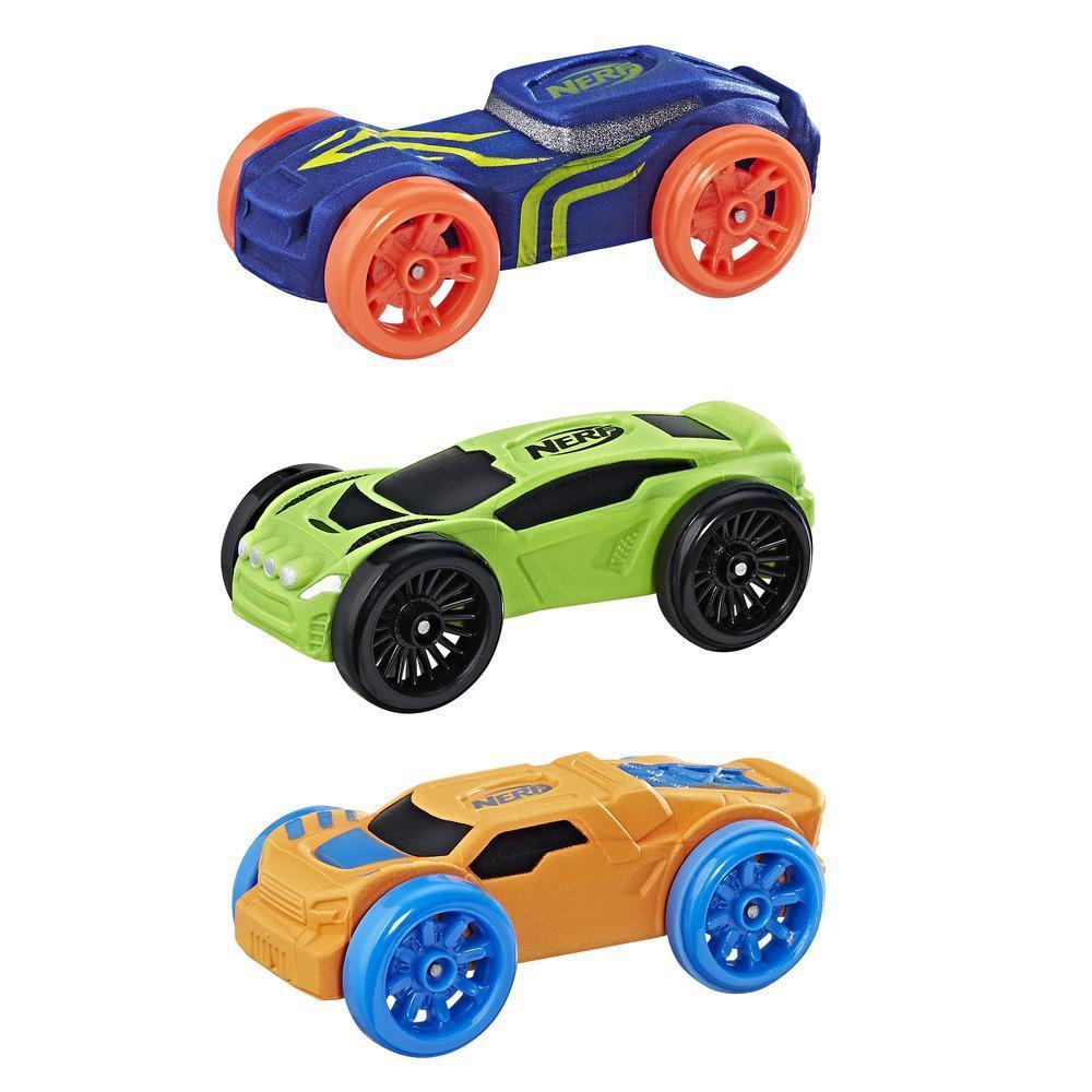 Nerf Nitro - Trío de autos de espuma (Empaque 1)