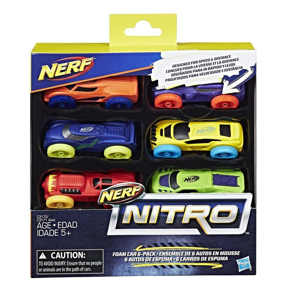 Nerf Nitro - 6 autos de espuma (Empaque 1)