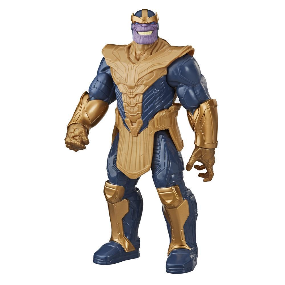 Marvel Avengers Titan Hero Series Blast Gear - Figura de acción de lujo de Thanos de 30 cm, juguete para niños de 4 años en adelante