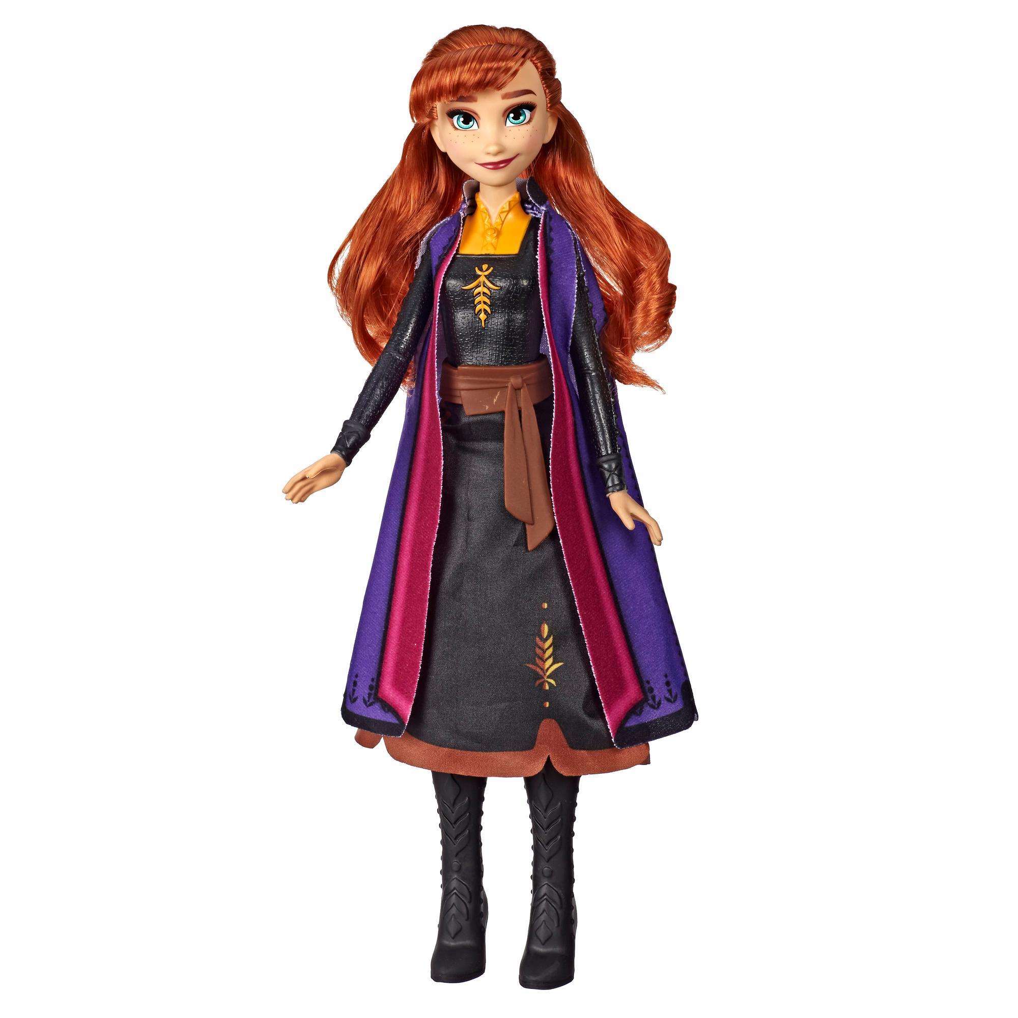 Disney Frozen - Anna Aventura mágica - Muñeca que se ilumina inspirada en la película Frozen 2 de Disney - Juguete para niños y niñas de 3 años en adelante