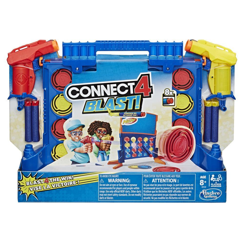 Juego Connect 4 Blast! con lanzadores Nerf