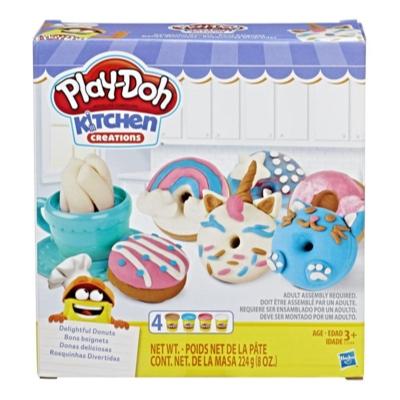 Play-Doh Kitchen Creations - Donas deliciosas - Juego de 4 colores
