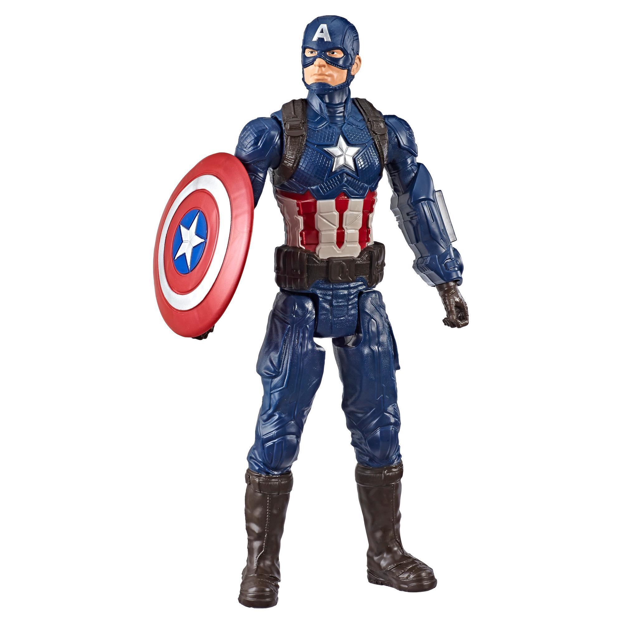 Marvel Avengers: Endgame Titan Hero Series - Figura de superhéroe Captain America de 30 cm con puerto para Titan Hero Power FX