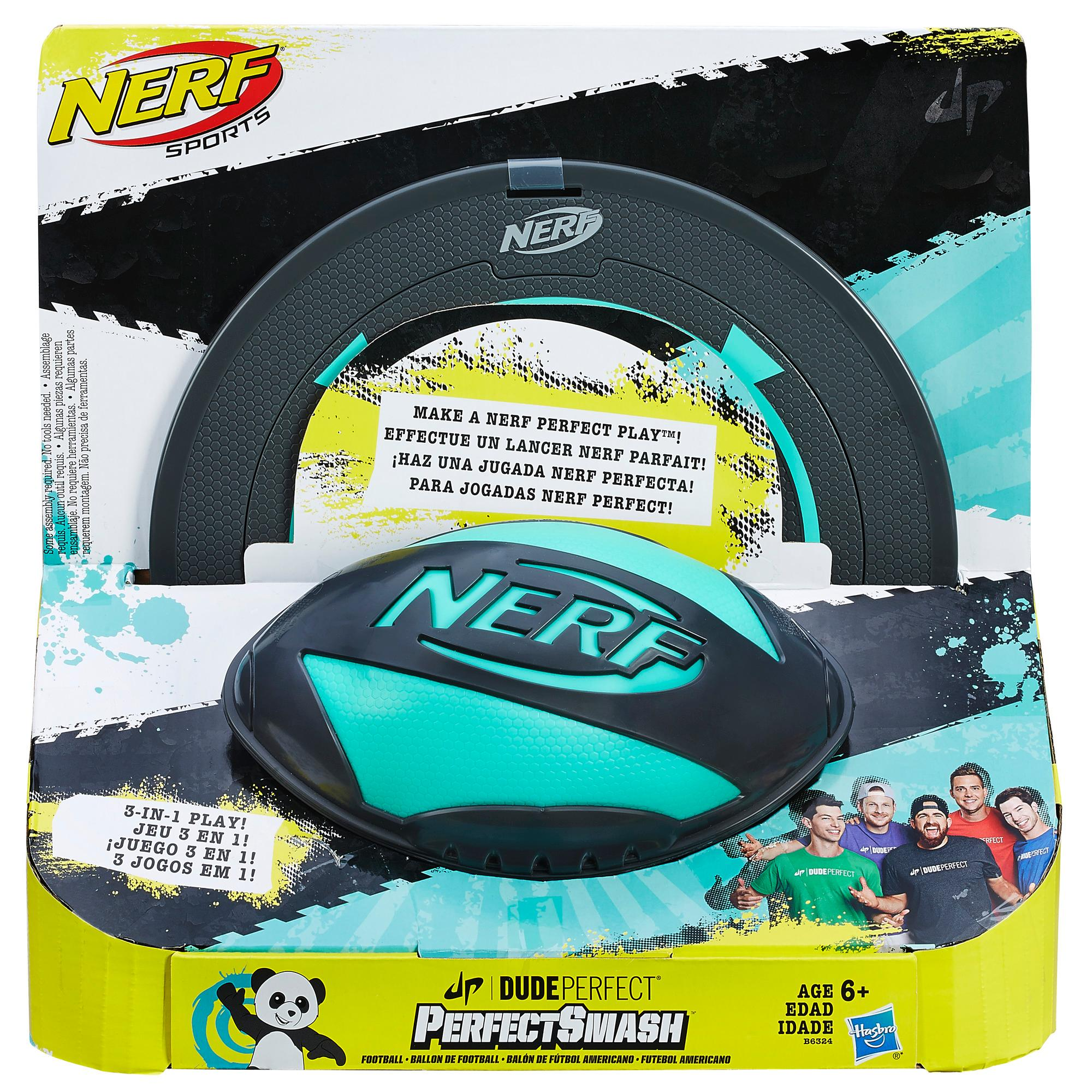 Nerf Sports Dude Perfect - Balón de fútbol americano PerfectSmash