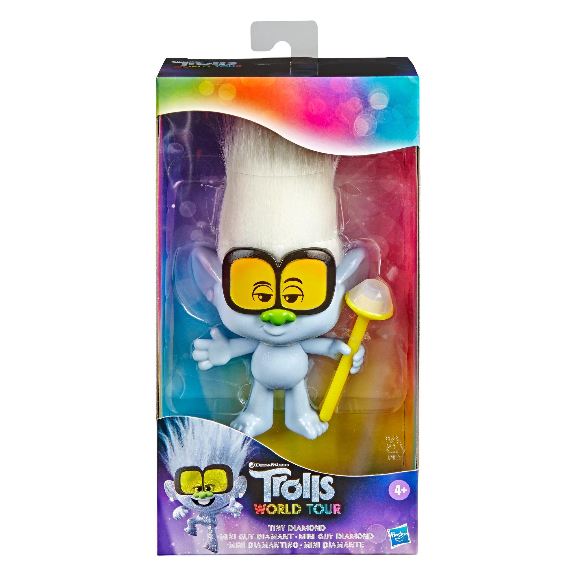 DreamWorks Trolls - Figura de Mini Diamantino con cetro, inspirada en la película Trolls: World Tour - Juguete para niños y niñas de 4 años en adelante