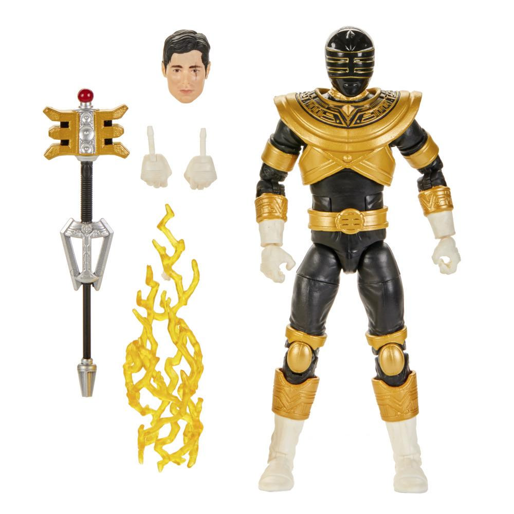 Power Rangers Lightning Collection - Zeo Gold Ranger premium de 15 cm - Figura coleccionable con accesorios
