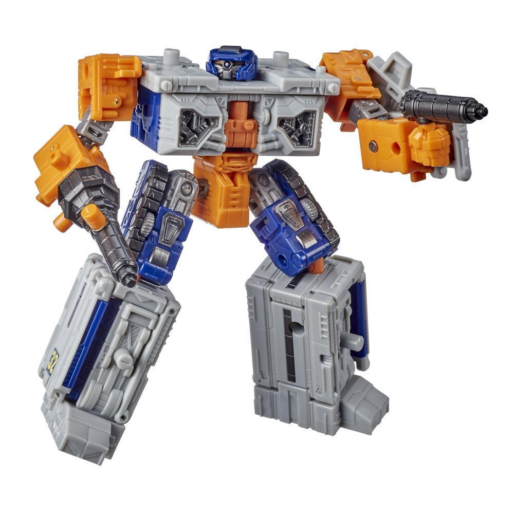 Juguetes Transformers Generations War for Cybertron: Earthrise - Figura WFC-E18 Airwave Modulator clase de lujo - 14 cm