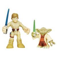Playskool Heroes Star Wars Héroes Galácticos Yoda y Luke Skywalker
