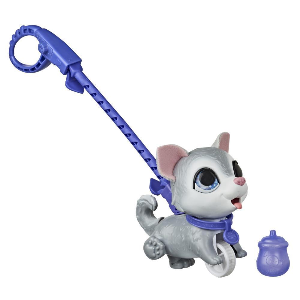 furReal Peealots Pequeños paseos - Husky - Perrito de juguete interactivo