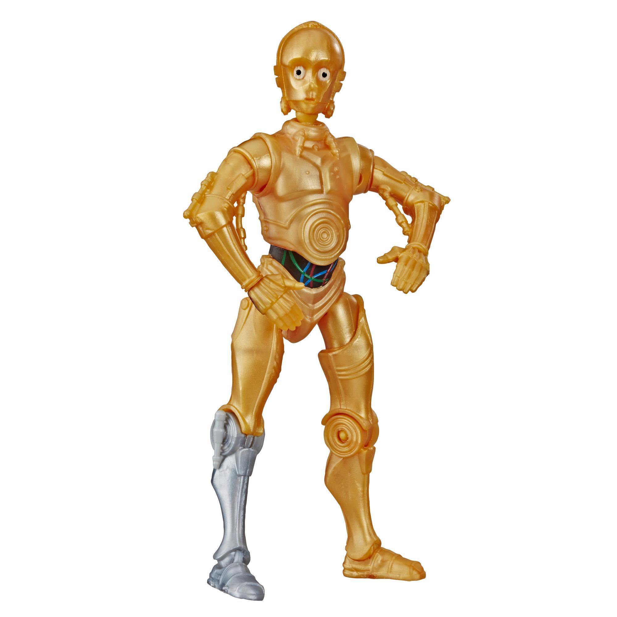 Star Wars Galaxy of Adventures - Juguete de C-3PO - Figura de acción a escala de 12,5 cm con divertida acción de demolición droide, Edad recomendada: 4 años en adelante