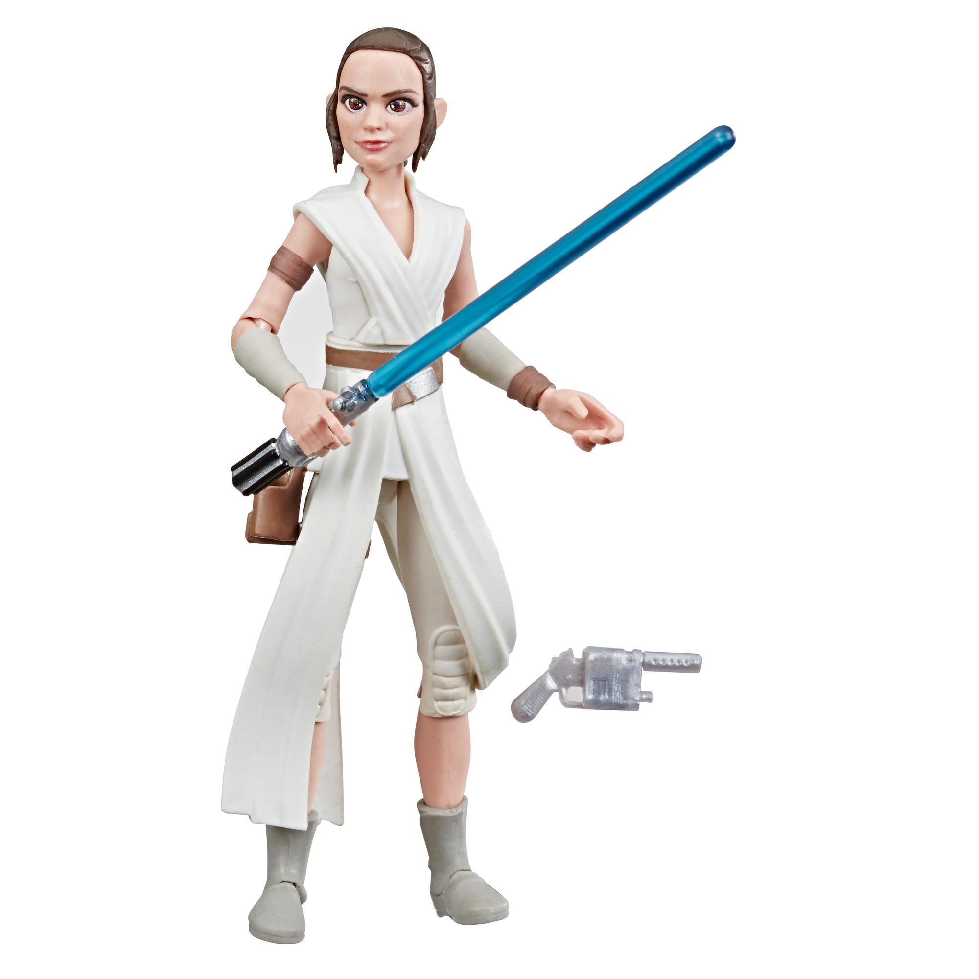 Star Wars Galaxy of Adventures - Star Wars: The Rise of Skywalker - Figura de acción de Rey de 12,5 cm - Juguete con movimiento de sable de luz
