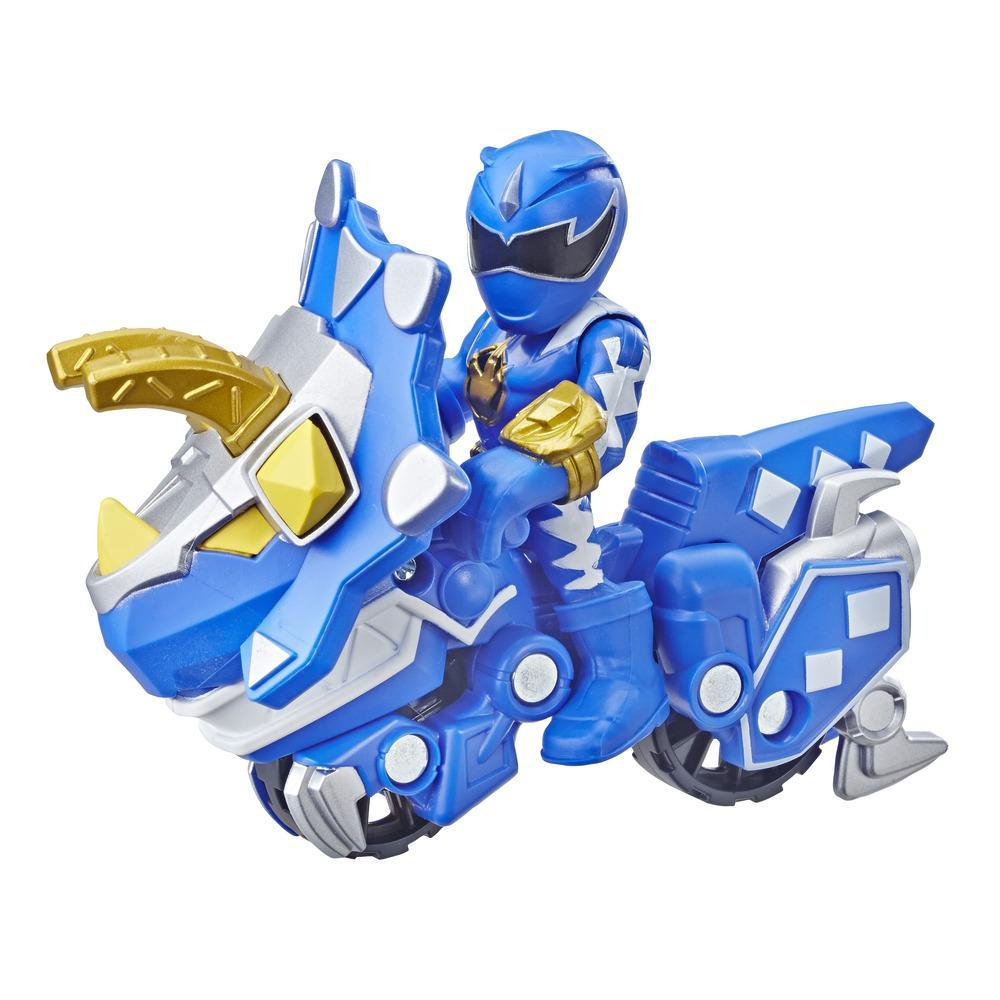 Playskool Heroes Power Rangers Blue Ranger y Raptor Cycle