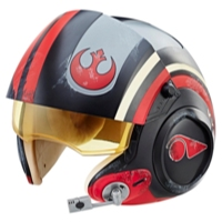 Star Wars The Black Series - Poe Dameron - Casco electrónico de piloto X-wing