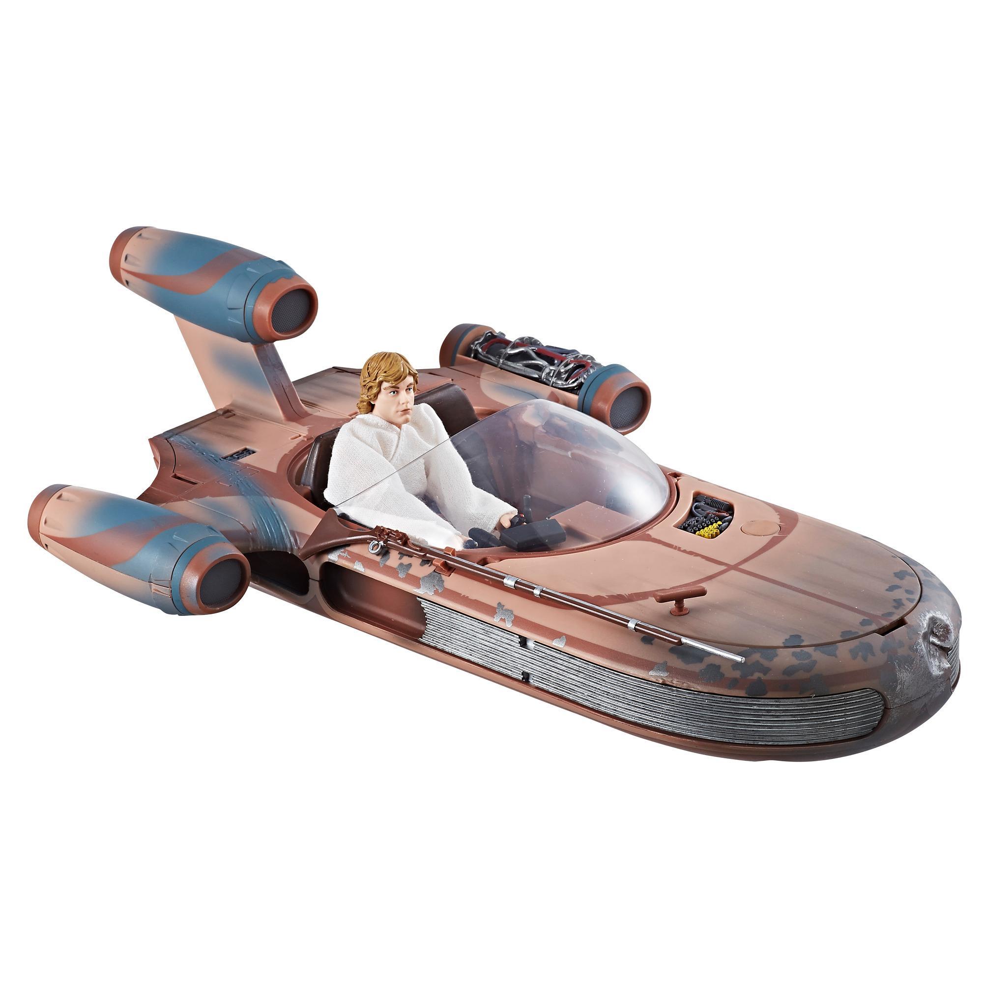 Star Wars The Black Series - Deslizador terrestre X-34 & Figura de Luke Skywalker