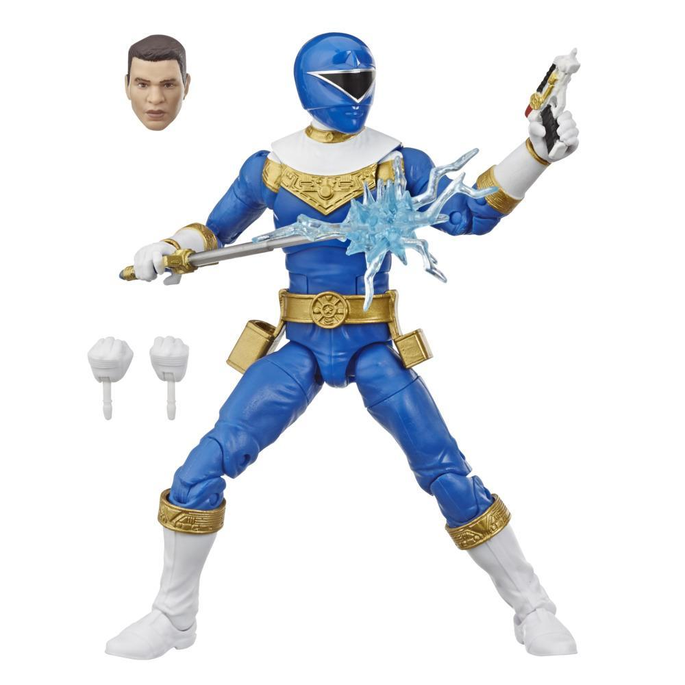Power Rangers Lightning Collection - Zeo Blue Ranger de 15 cm - Figura de acción coleccionable con accesorios