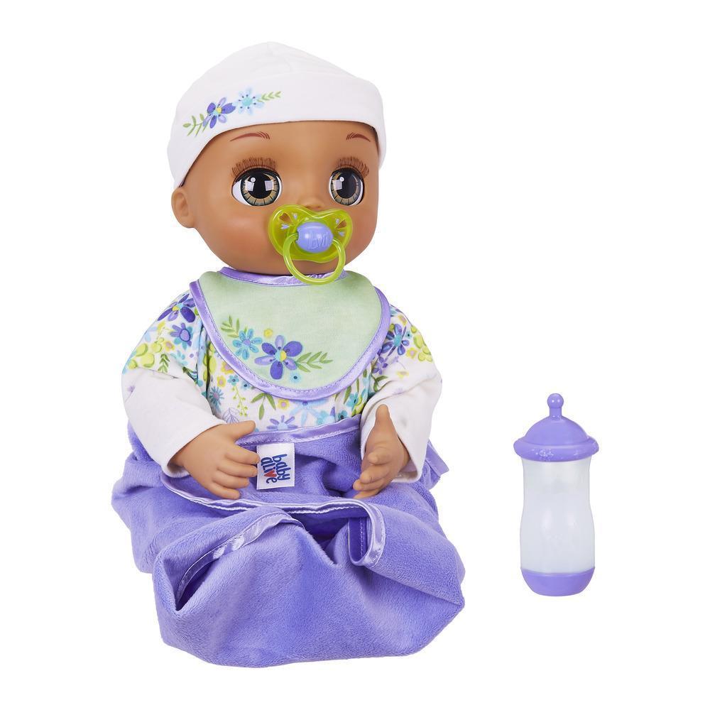 Baby Alive Mi bebita de verdad: Realista muñeca bebé morena con más de 80 expresiones, movimientos y sonidos reales de bebé, y accesorios para muñeca. Juguete para niñas y niños de 3 años en adelante