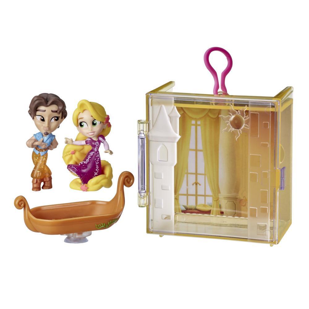 Disney Princess - Parejas perfectas - Rapunzel - divertido juguete con 2 figuras, estuche portátil y base, Edad: 3+