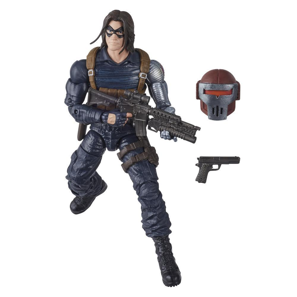 Hasbro Marvel Black Widow Legends Series - Figura coleccionable de 15 cm del Soldado del Invierno - Con 2 accesorios - Edad 4+