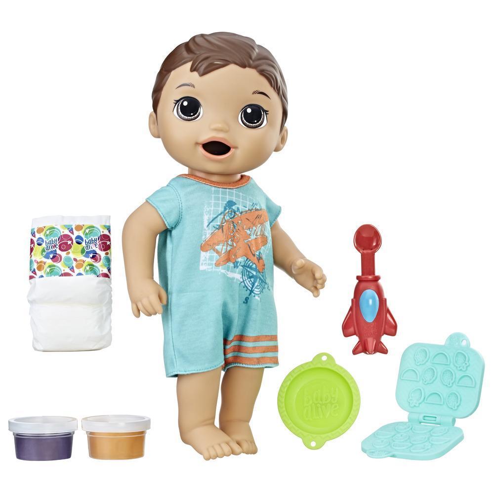 Baby Alive Super Snacks - Luke Comiditas Divertidas (moreno)