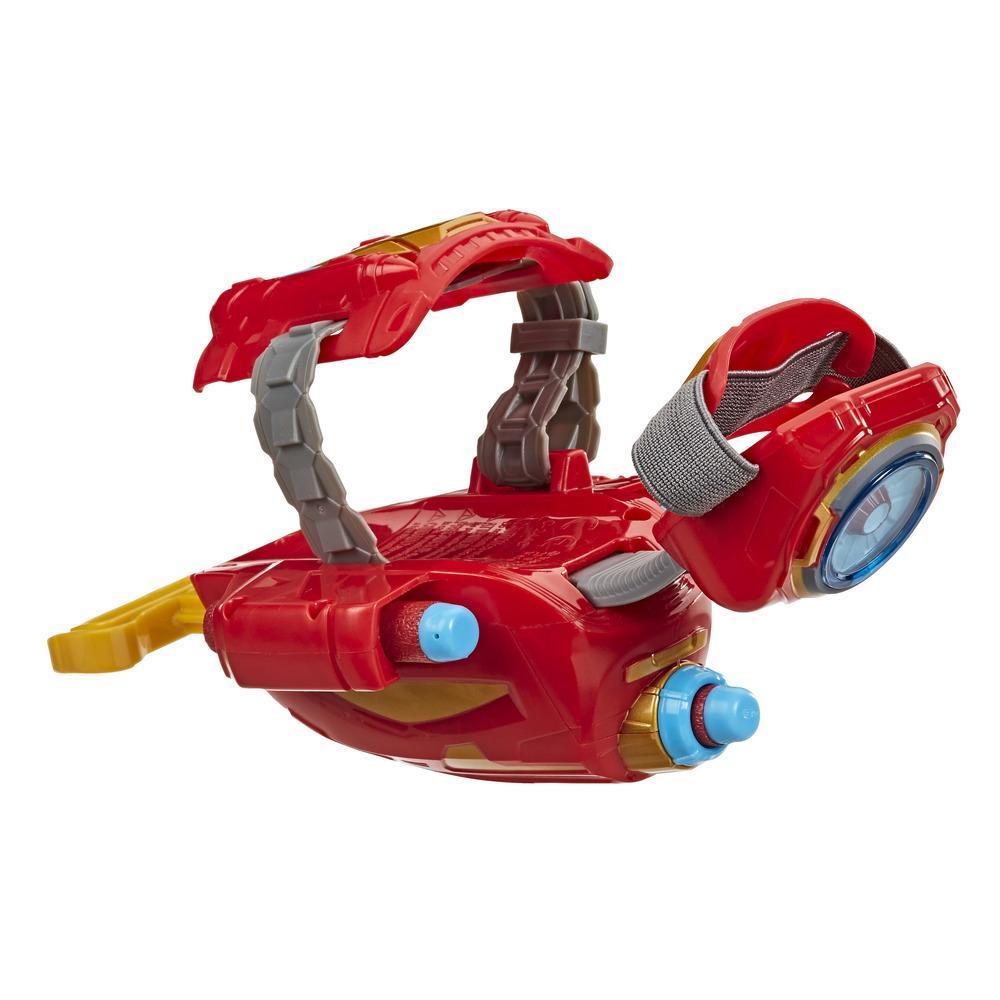 NERF Power Moves Marvel Avengers, Rayo Repulsor de Iron Man, juguete lanzadardos NERF para juego de rol infantil, 5 años en adelante
