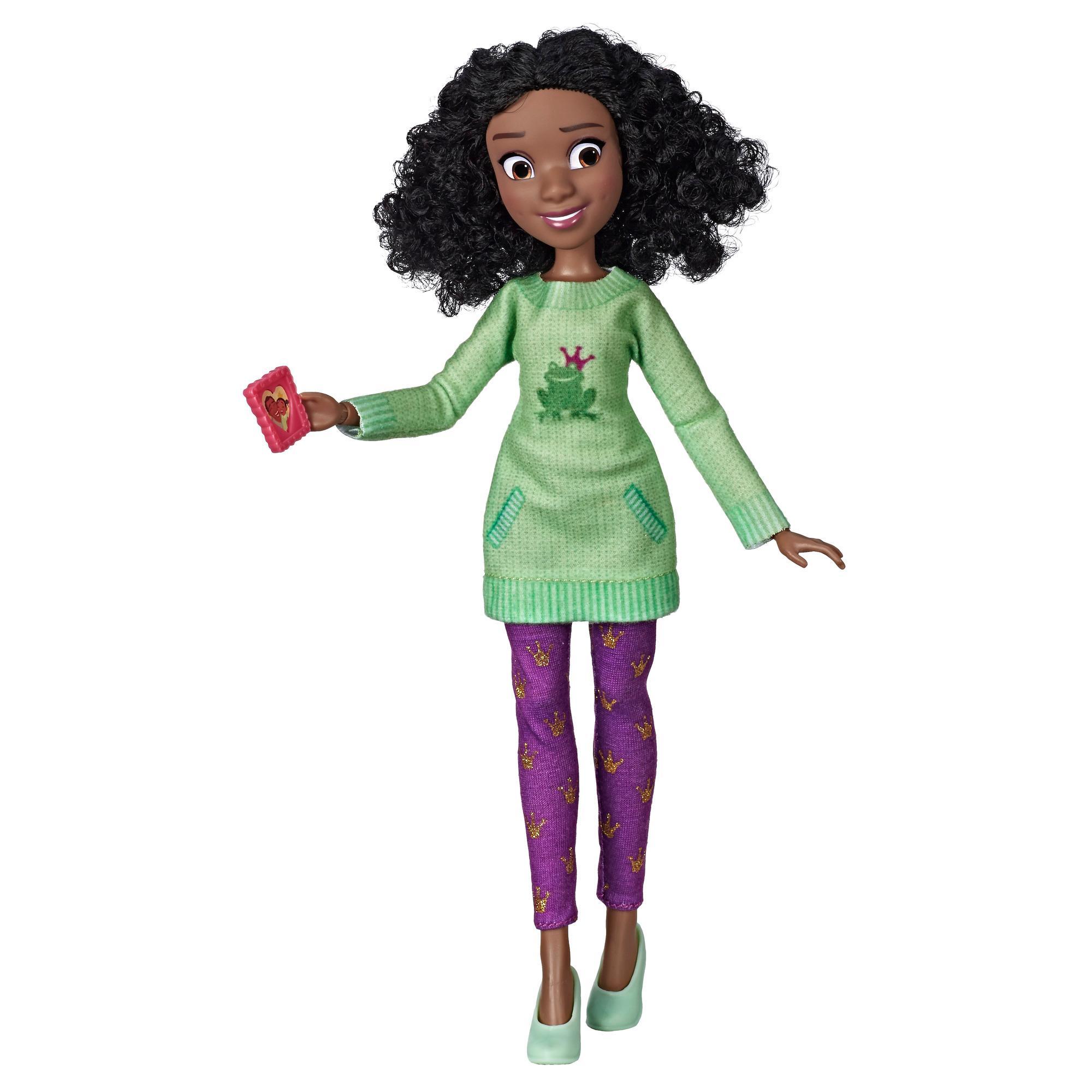 Disney Princess Comfy Squad - Muñeca de Tiana con ropa casual y accesorios inspirada en la película Wifi Ralph