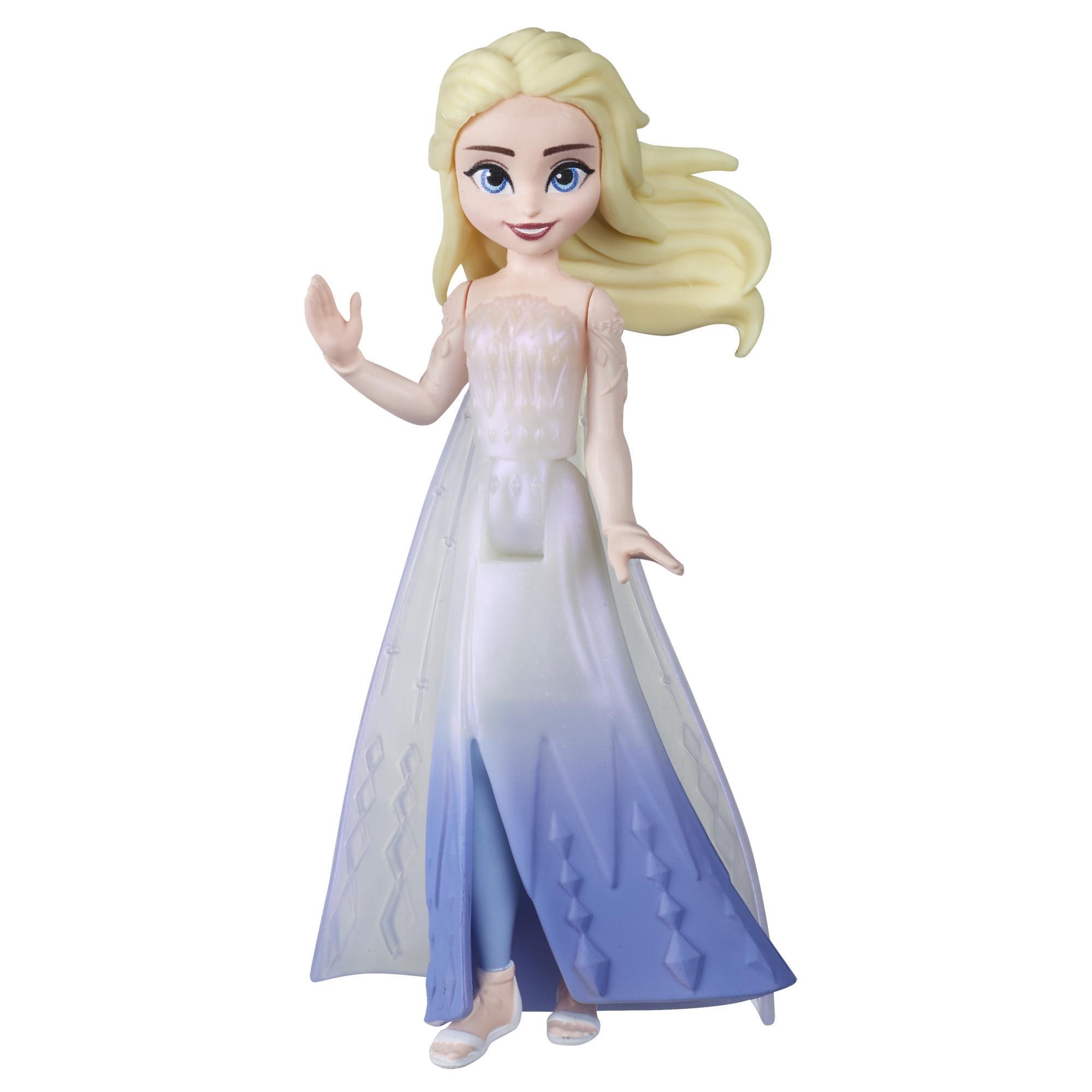 Disney Frozen - Pequeña muñeca de la reina Elsa con capa removible, inspirada en Frozen 2 - Edad 3+