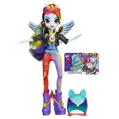 Muñeca My Little Pony Equestria Girls Rainbow Dash Estilo deportivo: Motocross