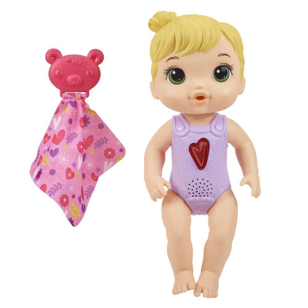 Baby Alive - Bebé Corazón feliz - Muñeca que reacciona con más de 10 sonidos y corazón que titila - Para niños y niñas de 3 años en adelante