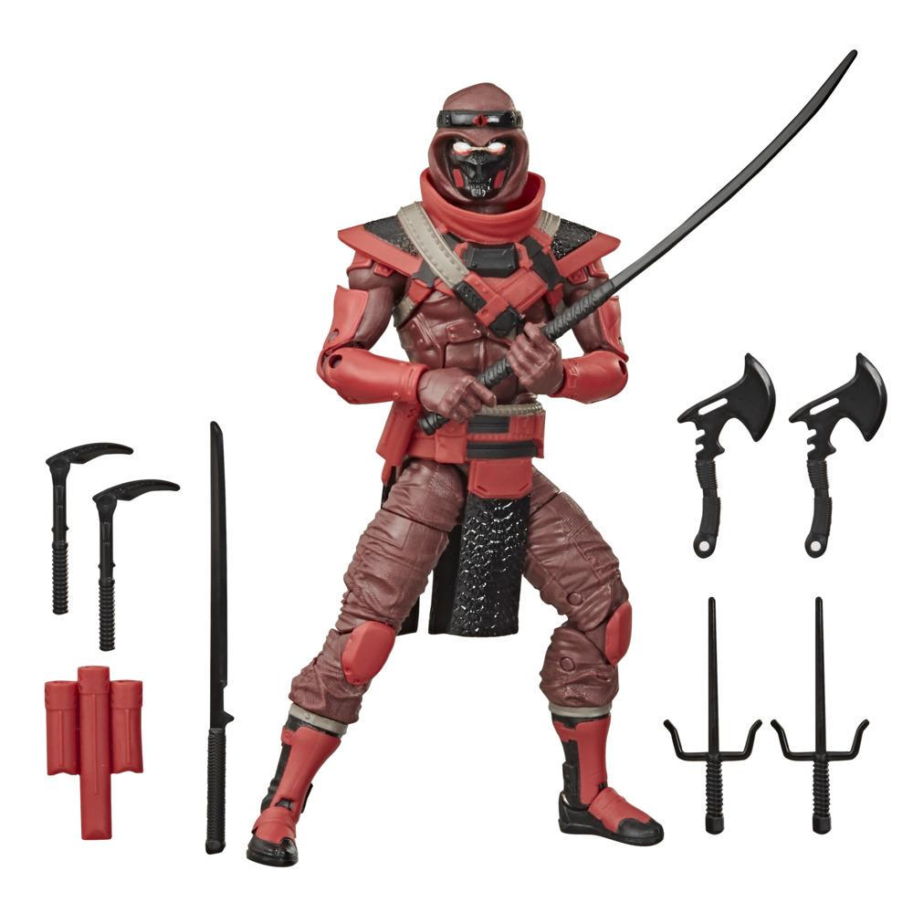 G.I. Joe Classified Series - Figura Red Ninja 08 con múltiples accesorios y empaque con arte distintivo