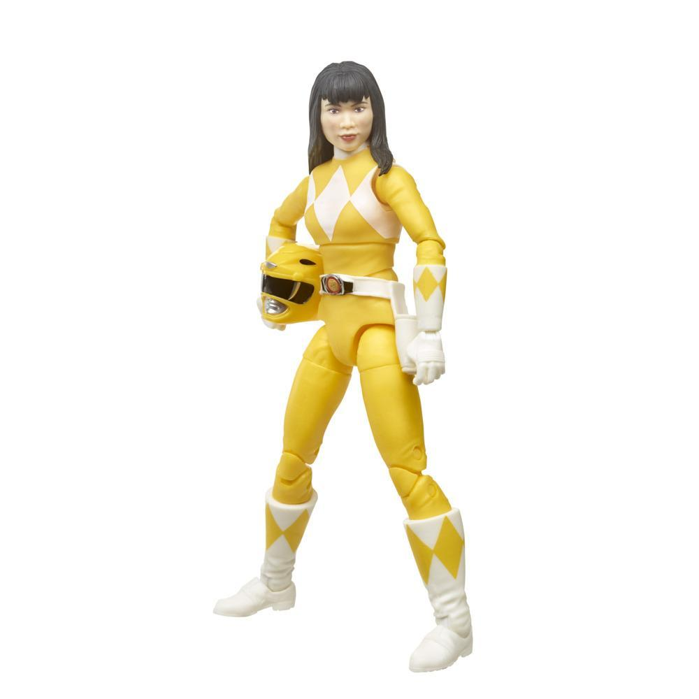 Power Rangers Lightning Collection - Mighty Morphin Yellow Ranger de 15 cm - Figura de acción coleccionable con accesorios