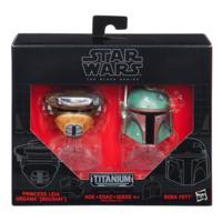 Star Wars Black Series - Titanium Series - Cascos de Boba Fett & princesa Leia Organa (Boushh)