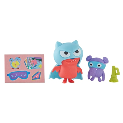 UglyDolls Disfraz sorpresa - Juguete Super Lucky Bat, figura y accesorios