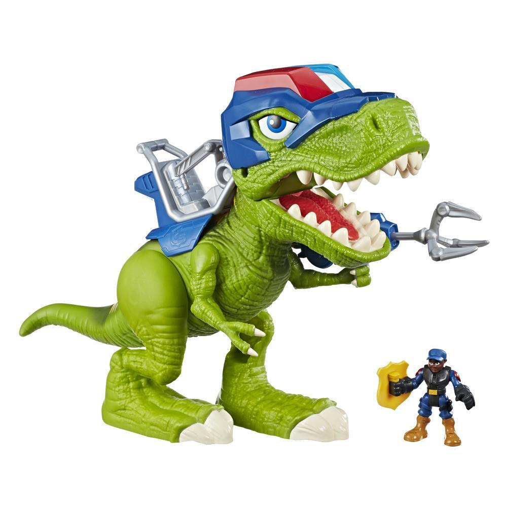 Playskool Heroes Chomp Squad - Trooper Saurio y Bobby Badge