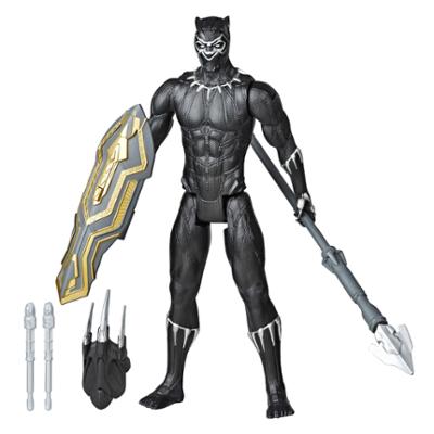Marvel Avengers Titan Hero Series Blast Gear - Figura de acción de lujo de Black Panther de 30 cm, juguete para niños de 4 años y más