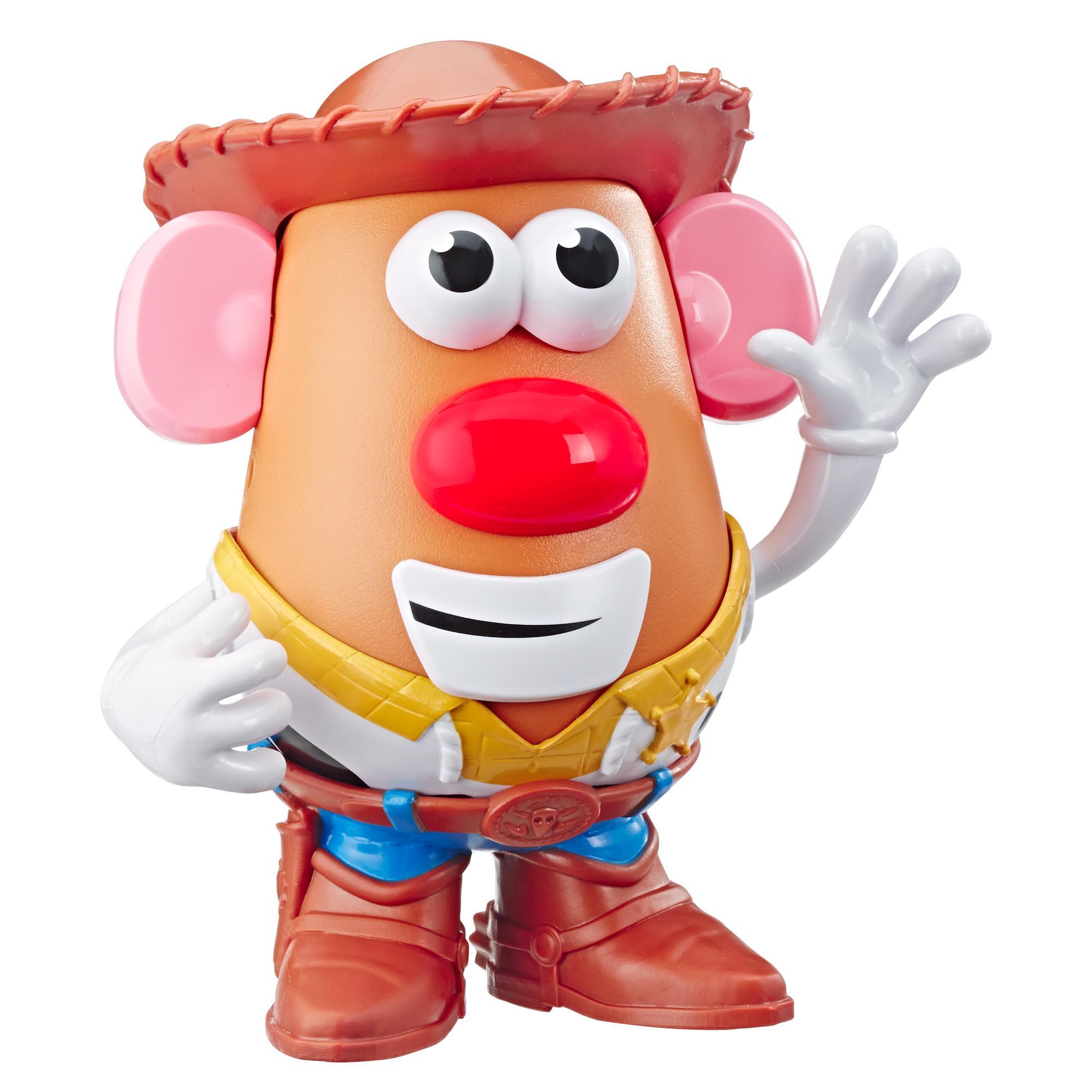 Mr. Potato Head Disney/Pixar - Figura de Papa Woody de Toy Story 4 - Juguete para niños de 2 años en adelante