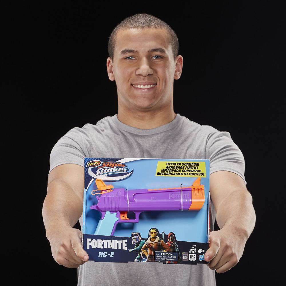 Lanzador de agua de juguete Fortnite HC-E Nerf Super Soaker -- Empapada sorpresa -- Capacidad de 218 mL -- Para niños, adolescentes y adultos