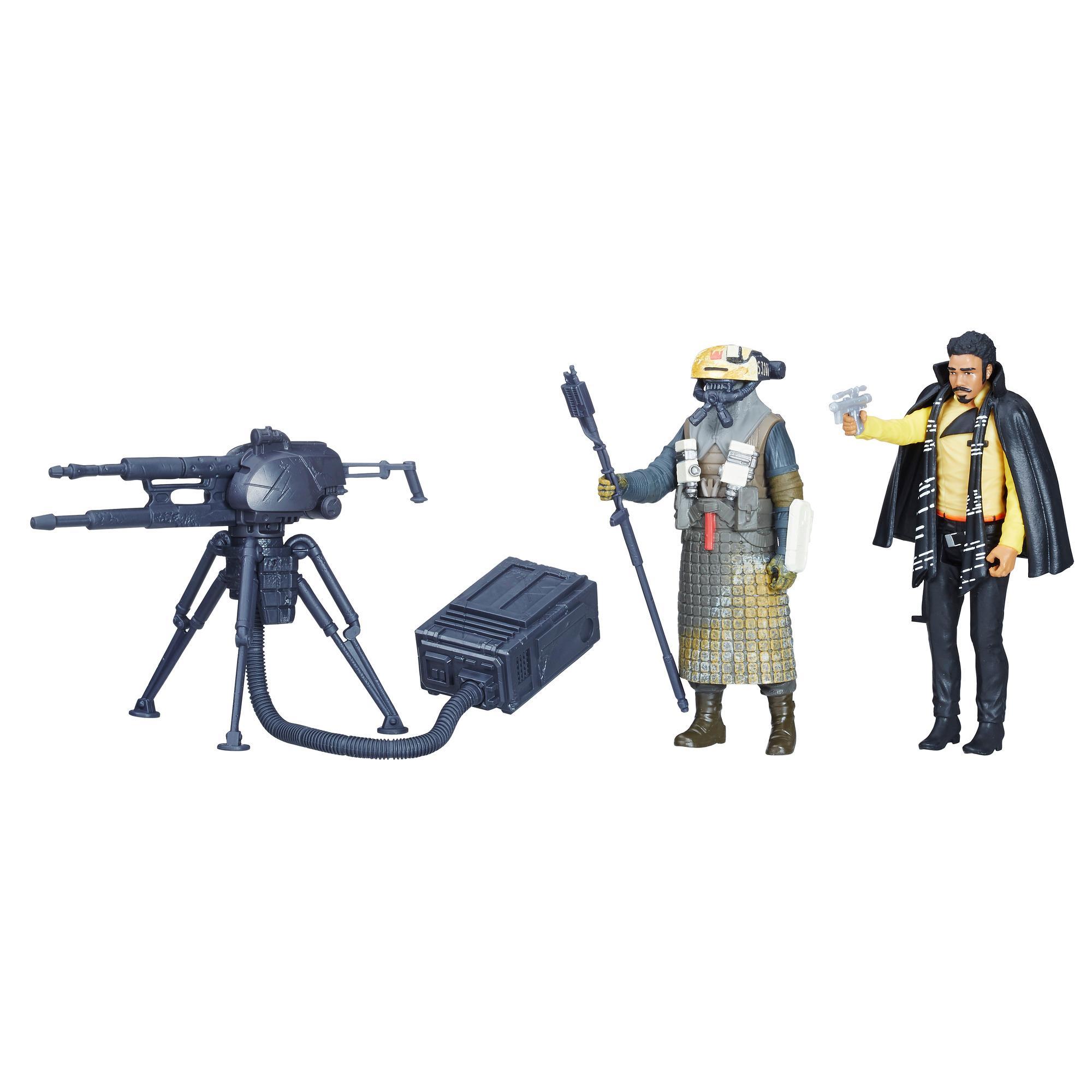 Empaque doble con figuras de Lando Calrissian y Guardia Kessel de Star Wars Force Link 2.0