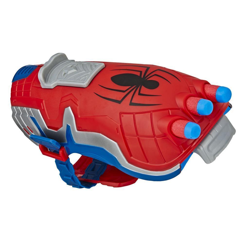 NERF Power Moves Marvel Spider-Man, Lanzador arácnido, juguete lanzadardos NERF para juego de rol infantil, para niños de 5 años en adelante