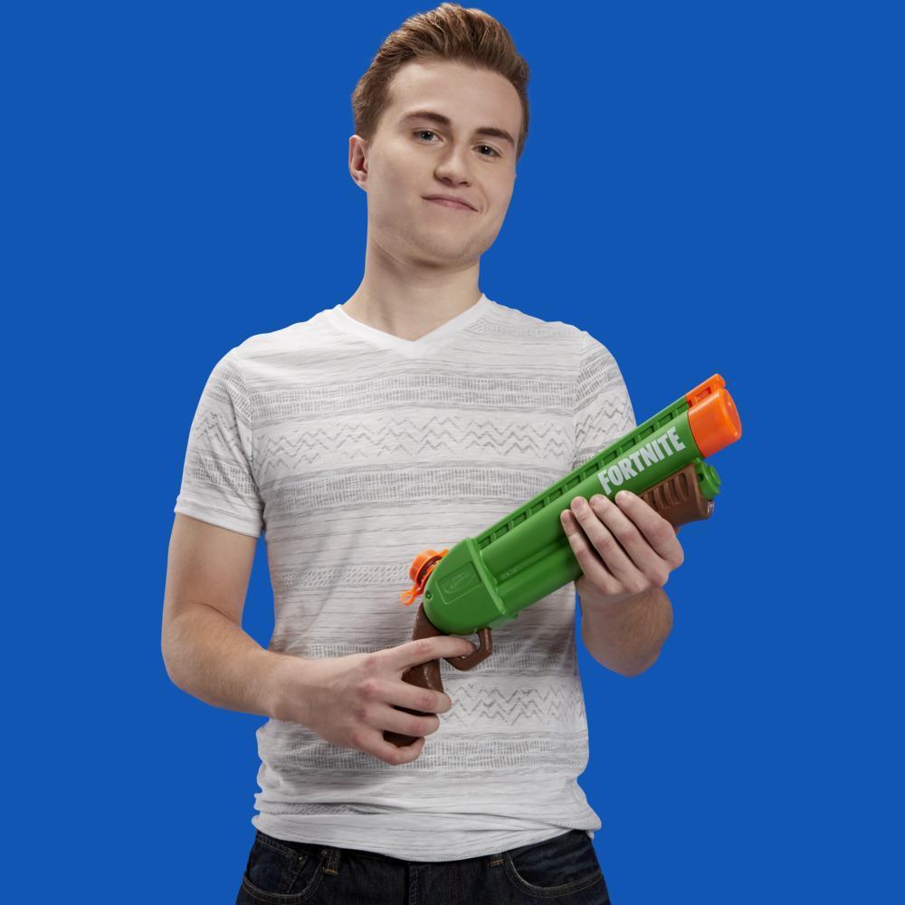 Lanzador de agua Nerf Super Soaker Fortnite Pump-SG -- Lanzador de bombeo -- Para niños, adolescentes y adultos