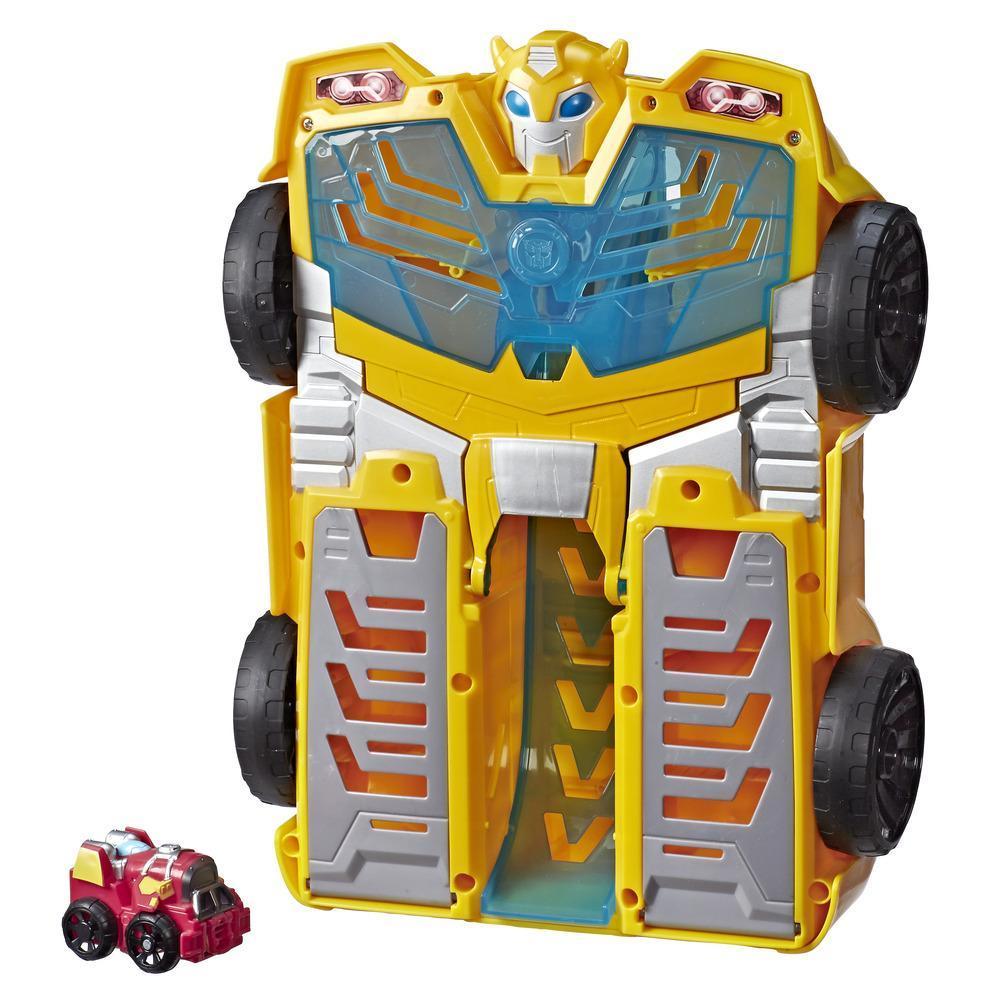 Playskool Heroes Transformers Rescue Bots Academy - Torre de pistas de Bumblebee