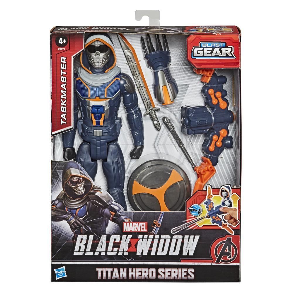 Marvel Black Widow Titan Hero Series Blast Gear - Figura del Supervisor de 30 cm - Con lanzador y proyectiles - Edad: 4+