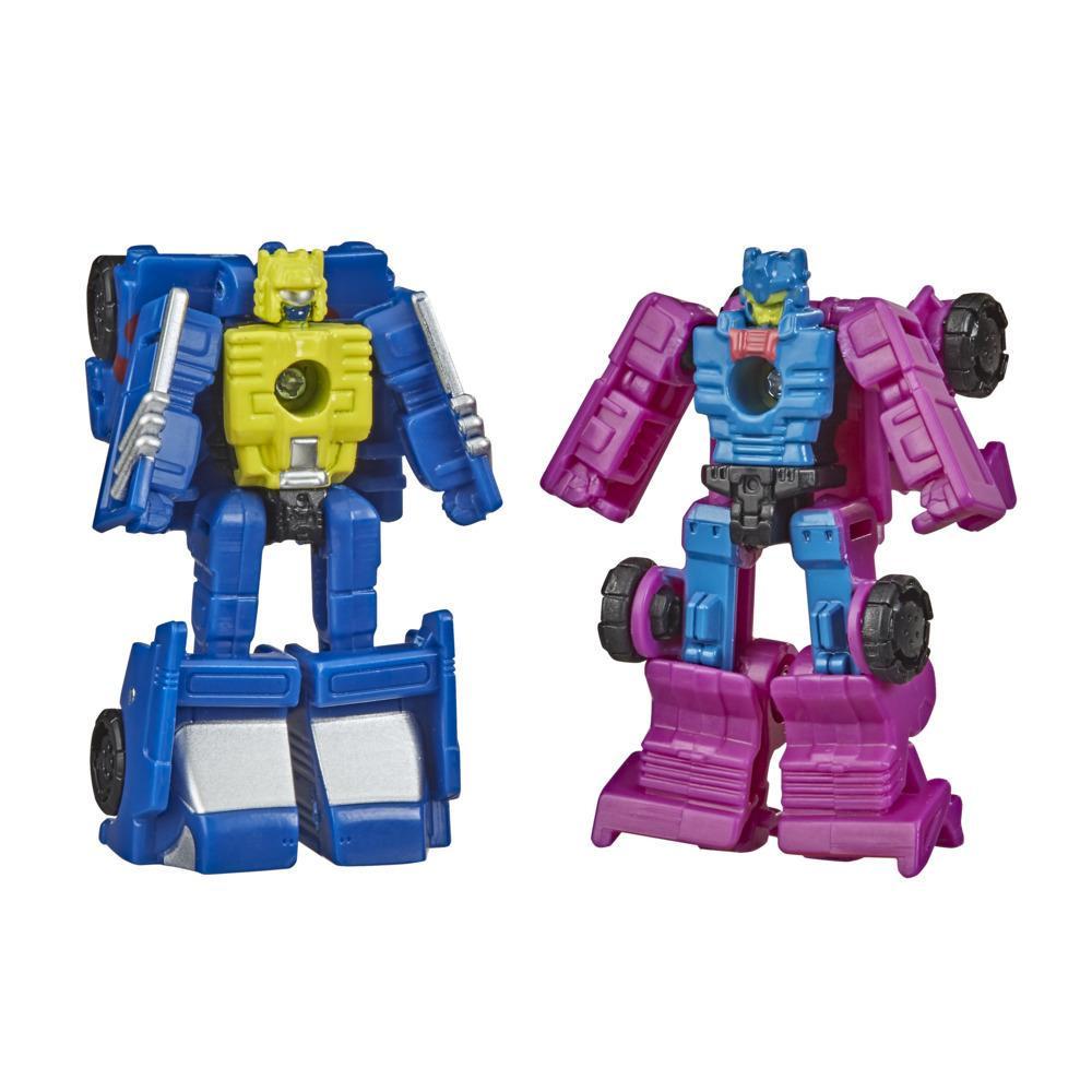 Juguetes Transformers Generations War for Cybertron: Earthrise - Empaque doble Micromaster WFC-E15 Patrulla de pista de carrera - 3,5 cm