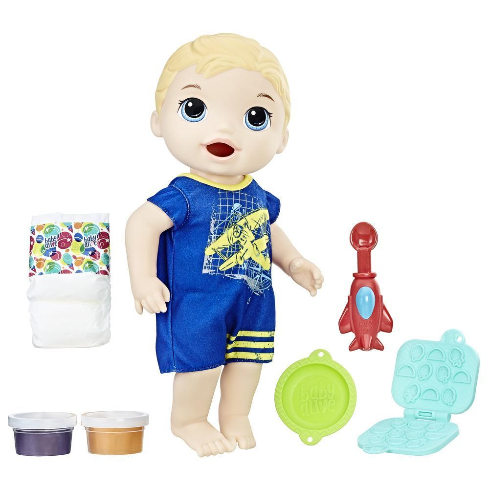 Baby Alive Super Snacks - Luke Comiditas Divertidas (rubio)