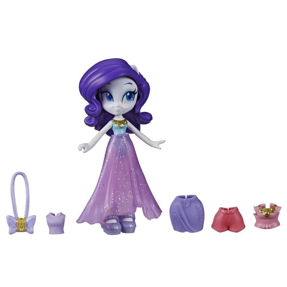 My Little Pony Equestria Girls - Rarity Brigada de moda - Minimuñeca de 7,5 cm con ropa y accesorios sorpresa