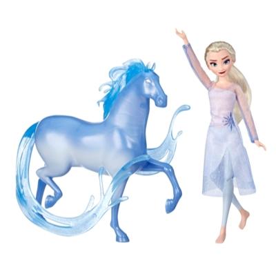 Disney Frozen - Muñeca de Elsa y figura de Nokk inspiradas en Frozen 2