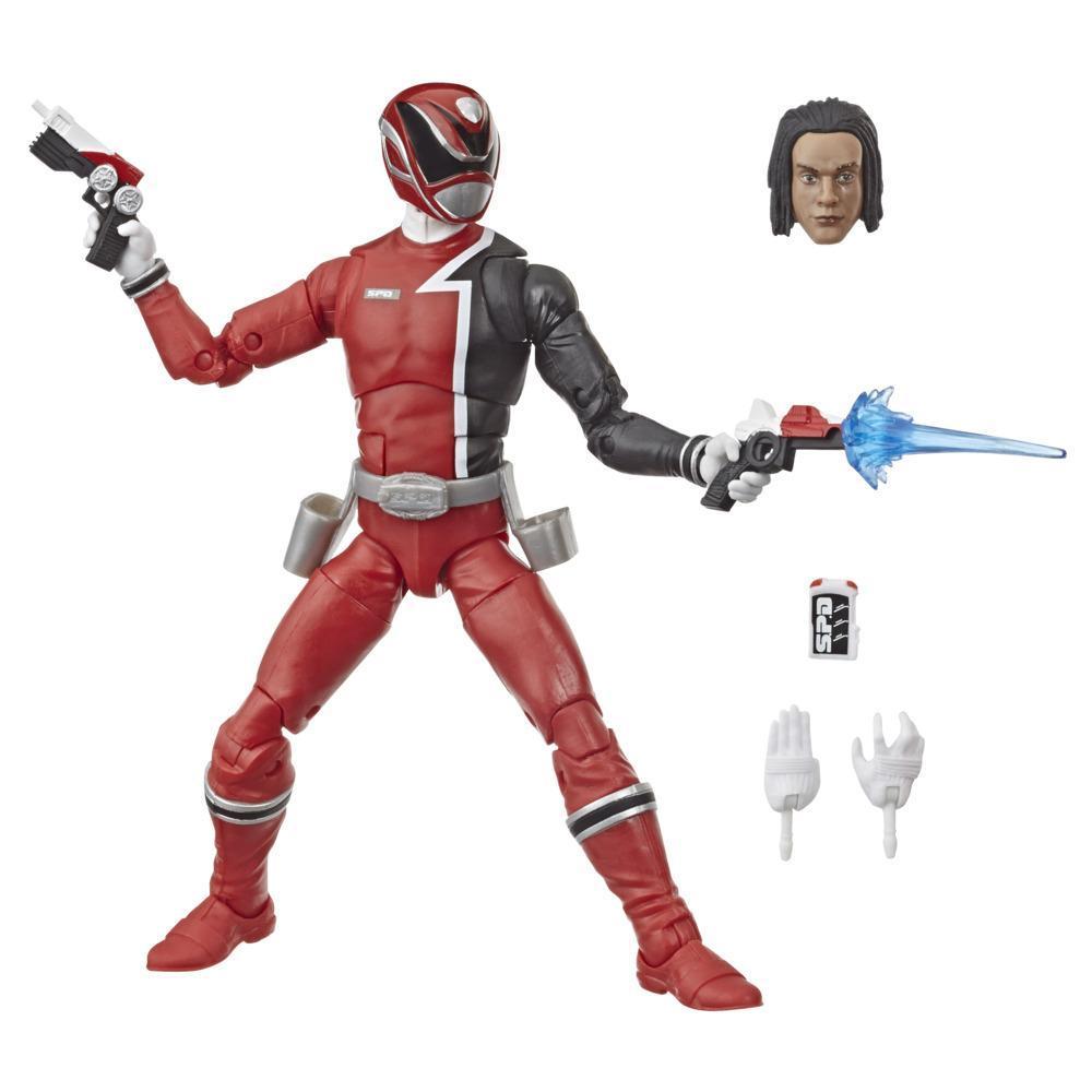 Power Rangers Lightning Collection - S.P.D. Red Ranger de 15 cm - Figura de acción coleccionable con accesorios
